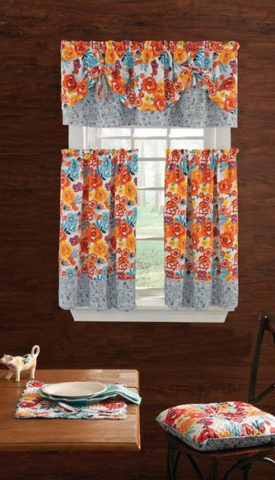Walmart – The Pioneer Woman Flea Market 3pc Kitchen Curtain And Valance Set Only $11.46 (Reg $16.55) + Free Store Pickup