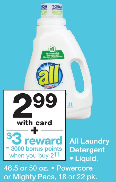 Walgreen's – All Laundry Detergent 30- 50 oz Only 49¢ Each
