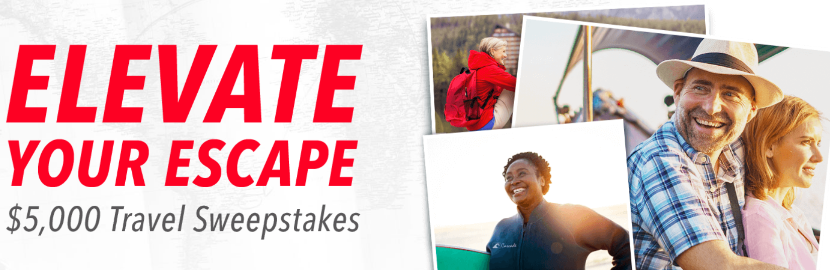 AARP'S Elevate Your Escape $5,000 Travel Sweepstakes!