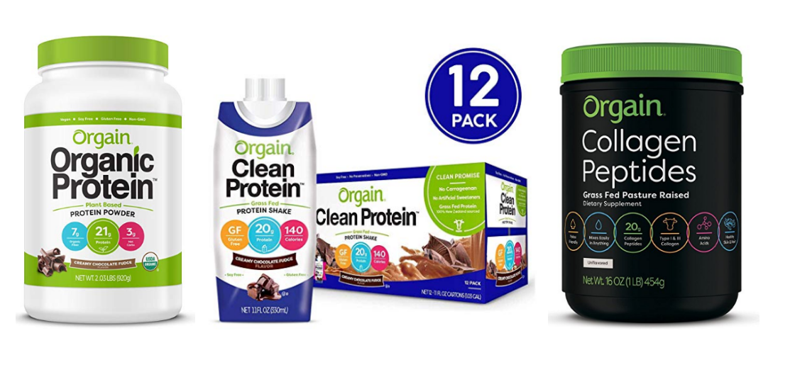 Amazon – Up To 20% Off Orgain Organic Protein Products