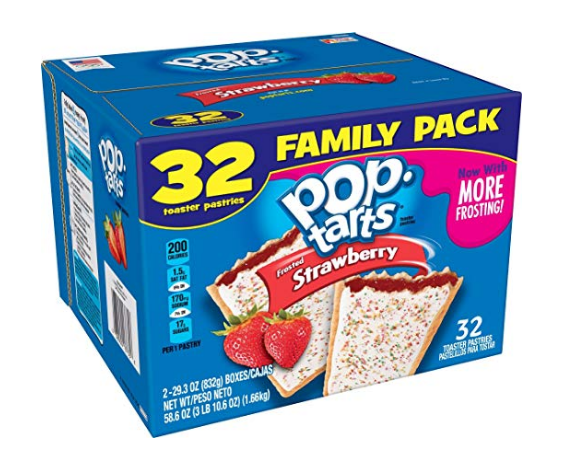 Amazon – 32 Count Frosted Strawberry Pop-Tarts Only $3.99