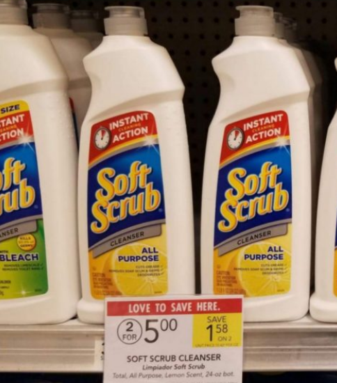 Publix – (Starting 5/22) Soft Scrub Cleanse or Soft Scrub Toilet Care Only 50¢ each