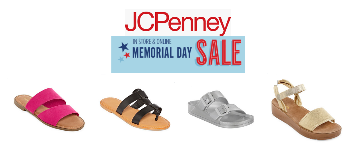 JCPenney.com – Buy One, Get Two FREE Women's Sandals (as Low as $7.67 Per Pair)