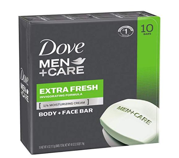 Amazon – 10 Count 4oz Dove Men+Care Body + Face Bar (Extra Fresh) Only $7.15, Reg $14.99