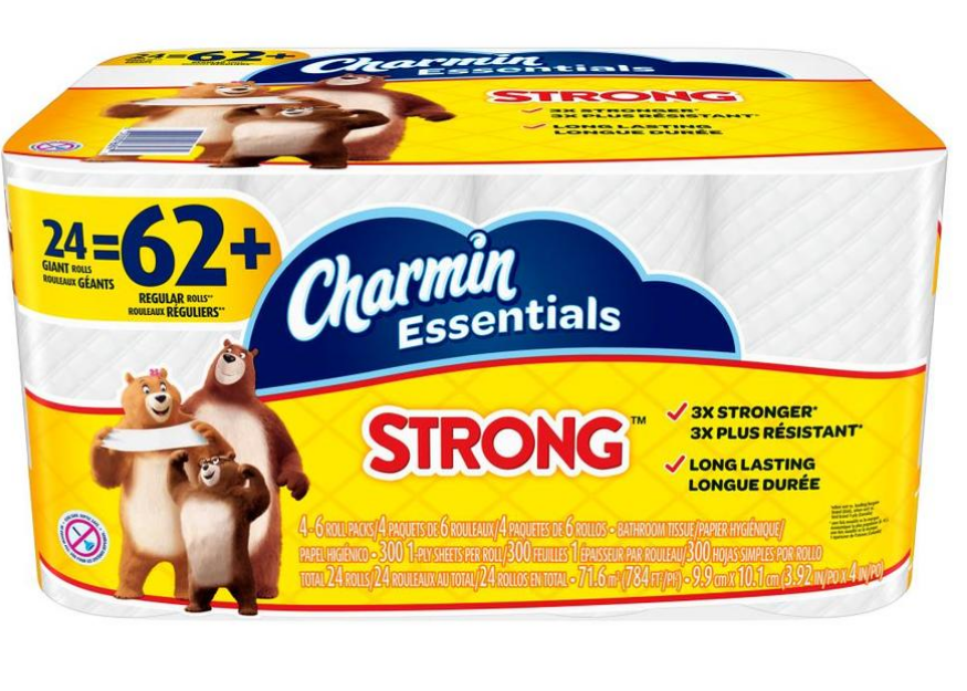 Lowes.com – Charmin Essentials 24-pack Toilet Paper Only $9.44, Reg $13.68 + Free Store Pickup!