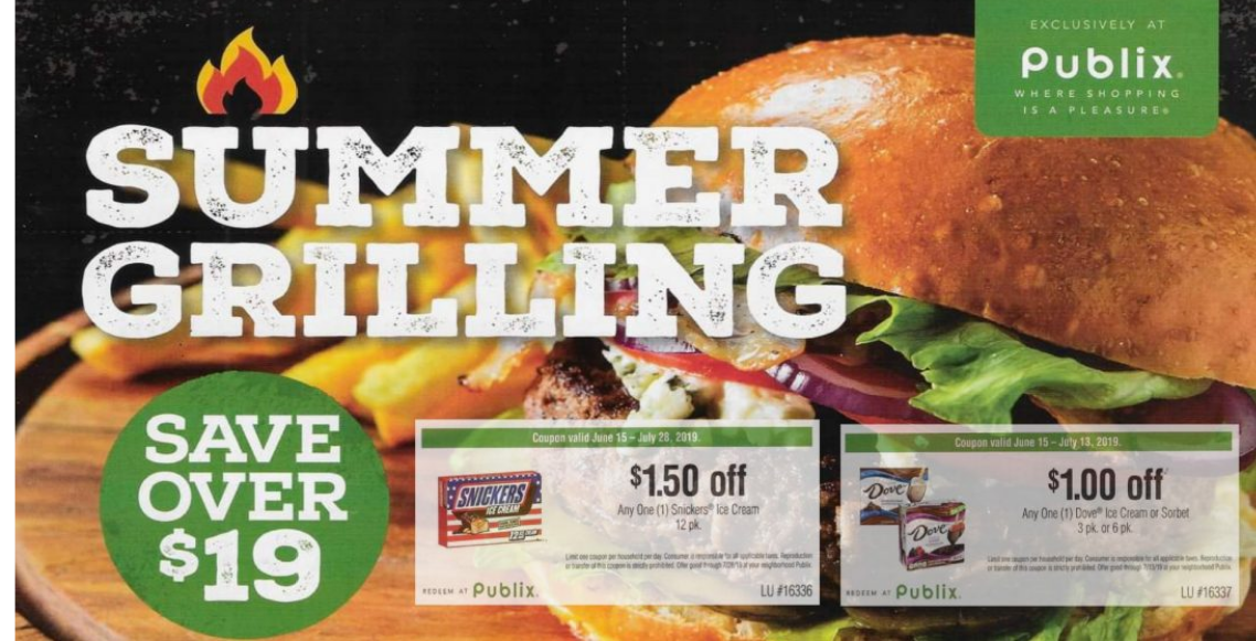 Publix – Summer Grilling Booklet AND Printable Coupons – Valid 6/15-7/13