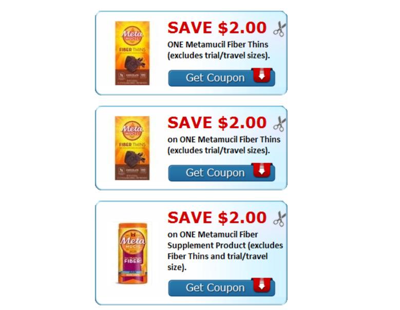 Metamucil Fiber Products – $8.00 In Printable Coupons = Metamucil Thins 24 ct Only $4.99, Reg $11.99!