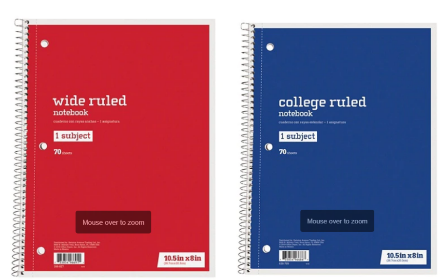 Office Depot – Spiral Notebooks Only 10¢ (In-Store & Online)