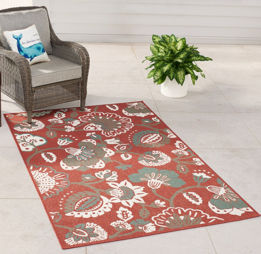 Kohl's.com – SONOMA Goods for Life 4×6 Jacobean Floral Rug in Red Only $19.99 (Reg. $99.99)