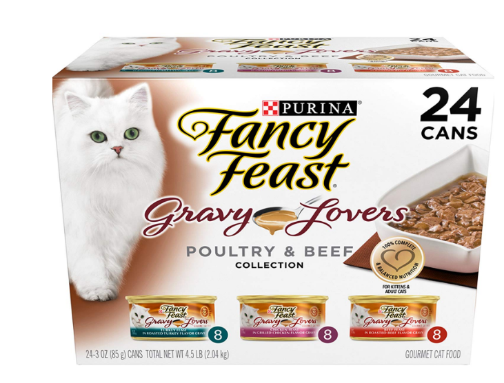 Amazon – Purina Fancy Feast Wet Cat Food 24 Pk Only $9.97 Shipped (Reg $16.79) + Free Shipping With S&S!