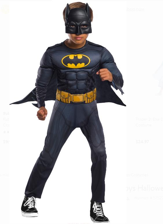 Walmart.com – Batman Boys Halloween Costume Only $4.99 + Free Store Pickup!