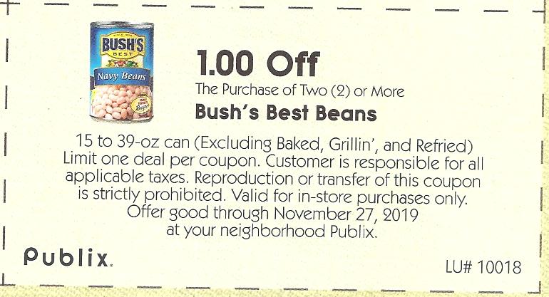 Publix – Bush Best Black Beans only 29¢ Each!