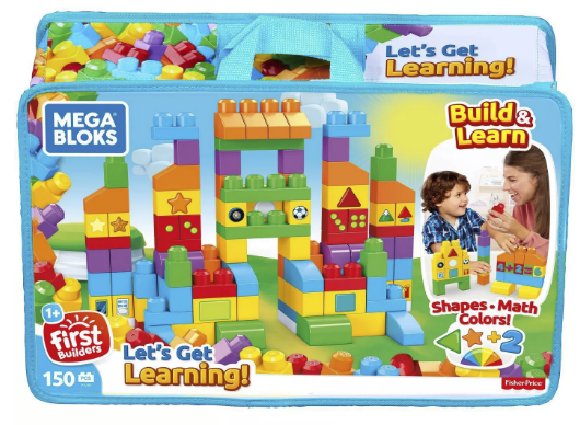 Walmart – Mega Bloks Building Basics Let's Get Learning 150-Piece Set Only $14.97 + Free Store Pickup!