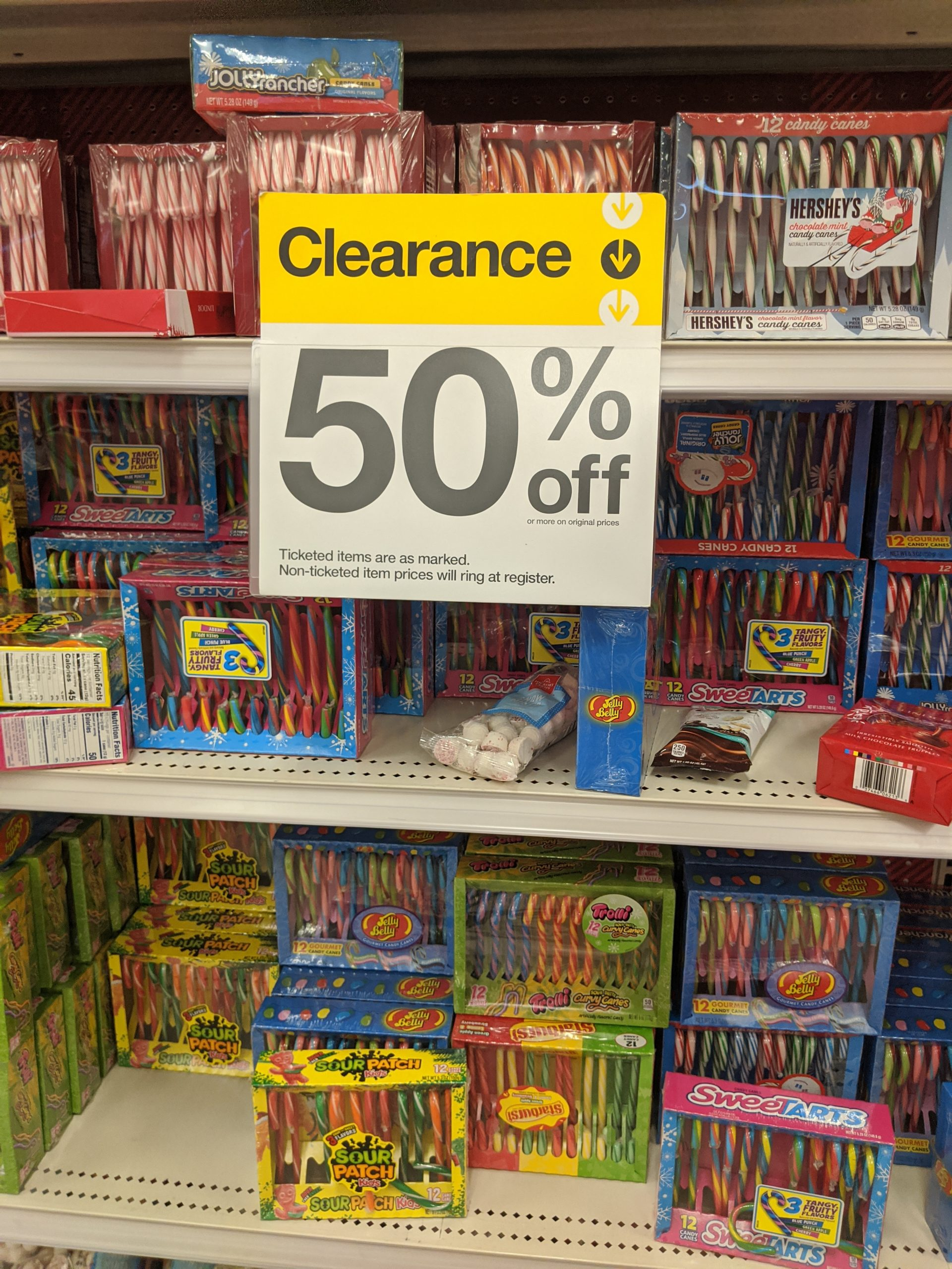 Target Store – 50% Off Christmas Candy!