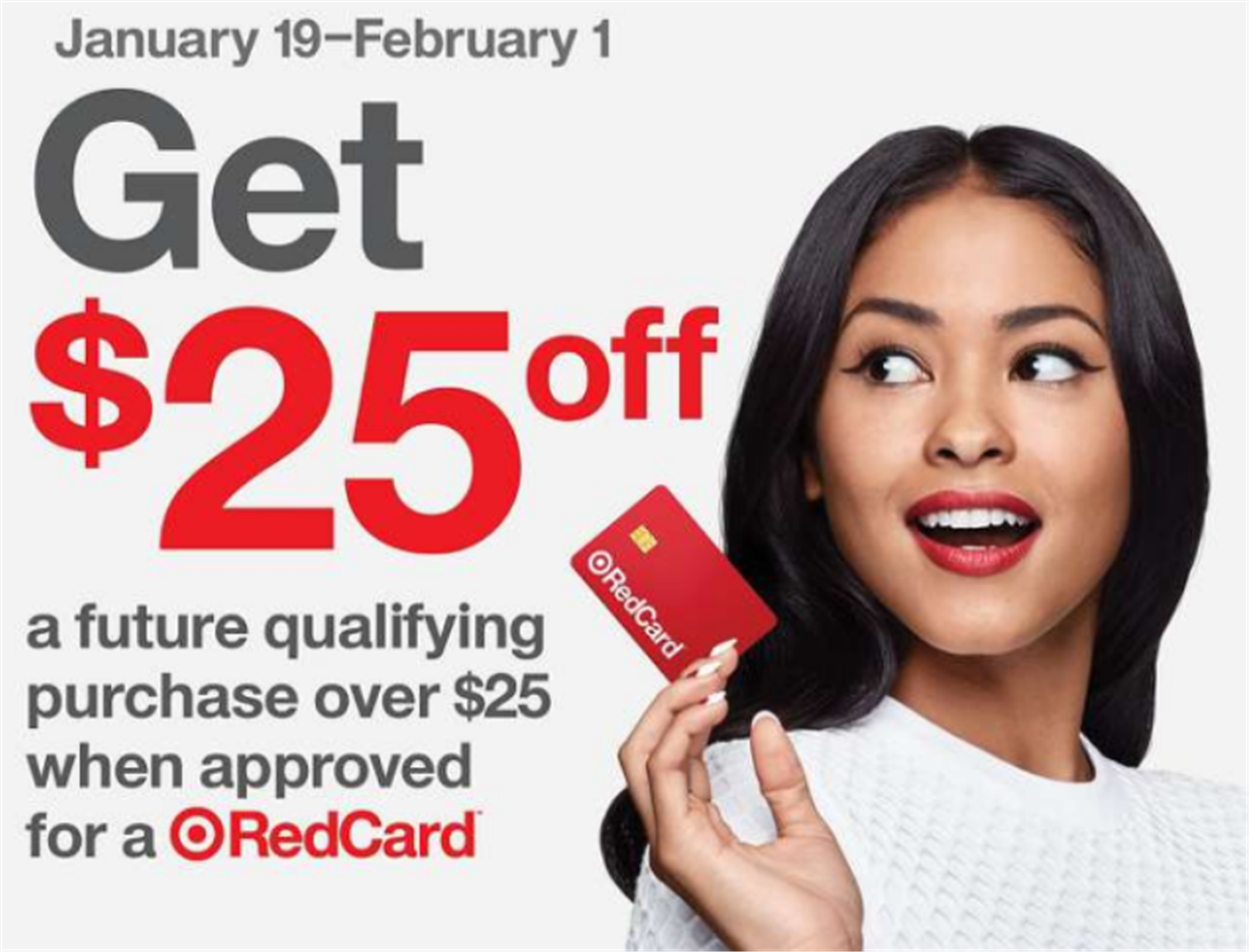 Target – $25 Off $25 Purchase Coupon for New RedCard Holders! Sign Up Now!
