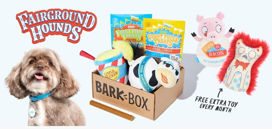 FREE Extra Toy EVERY MONTH With ALL BarkBox Subscriptions!