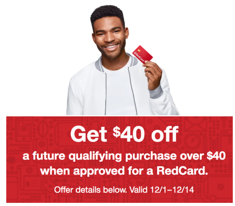 Target – $40 Off $40 Purchase Coupon for New RedCard Holders! Sign Up Now!