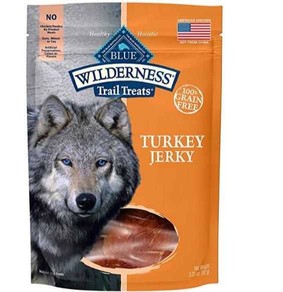 Amazon – Blue Buffalo Wilderness Grain-Free Turkey Dog Jerky Treats, 3.25 oz Only $1.92, Reg $11.99 + Free Shipping!