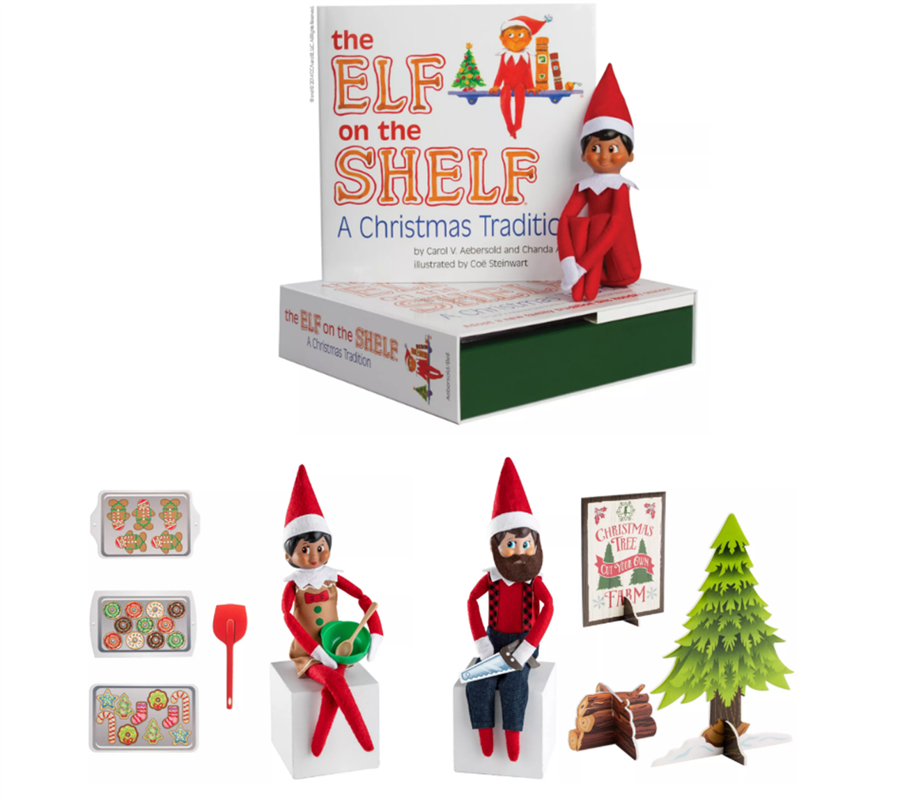 Elf on the Shelf Box Set + Two Packs of Clothes and Accessories For Only $39.95 + Free Shipping!