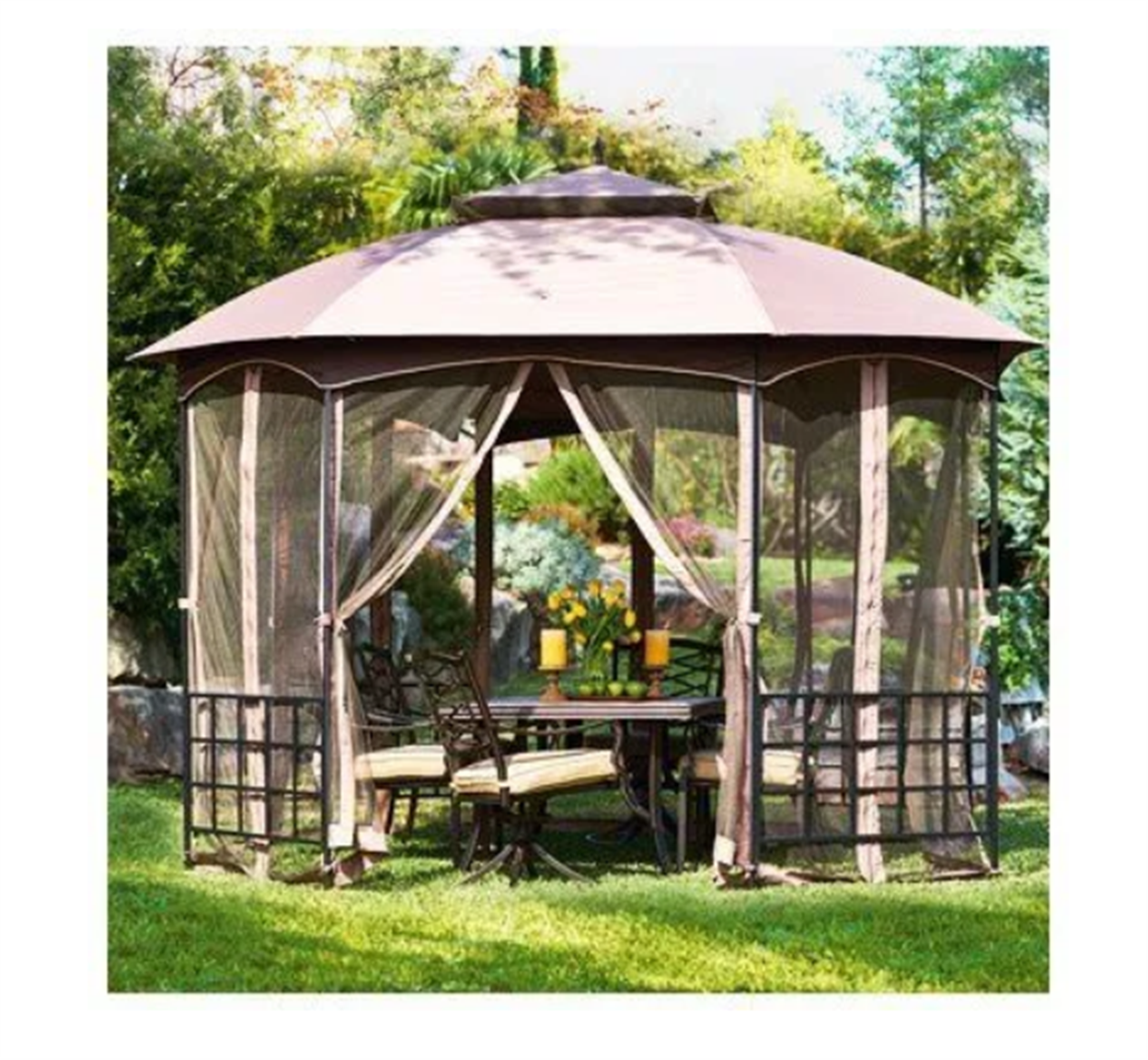 Catalina Gazebo With Canopy & Netting, Octogon Shape, 12 x 9.8 x 9.4-Ft. Only $159.99, Reg $349.00 + Free Store Pickup!