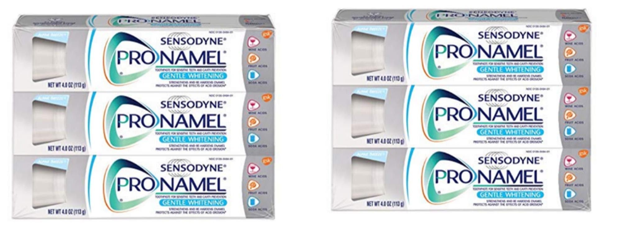 Amazon – 6 Pack Of Sensodyne Pronamel Gentle Whitening, Sensitive Toothpaste (4 oz) Only $20.72 + Free Shipping!
