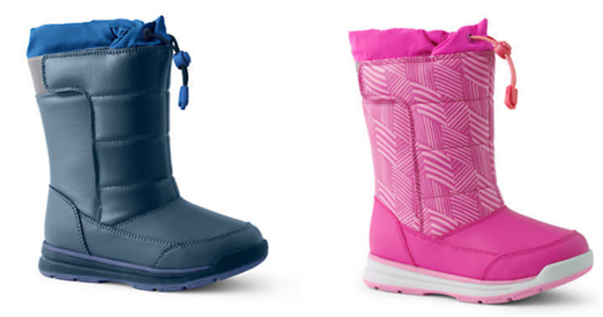 Lands' End Take An Additional 50% Off Order With Code + Free Shipping! Kids' Snow Flurry Winter Boots Only $15, Reg $60