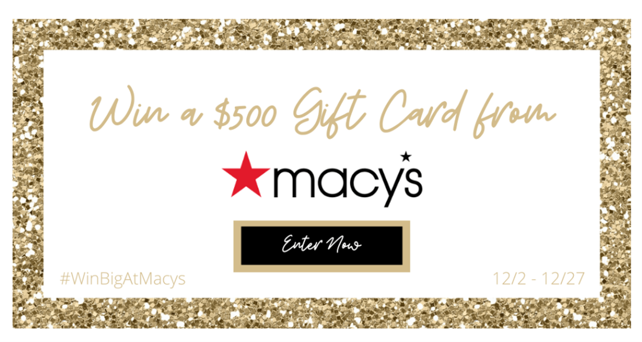 Enter To Win a $500 Gift Cards From Macy's – SIGN UP ENDS 12/27!