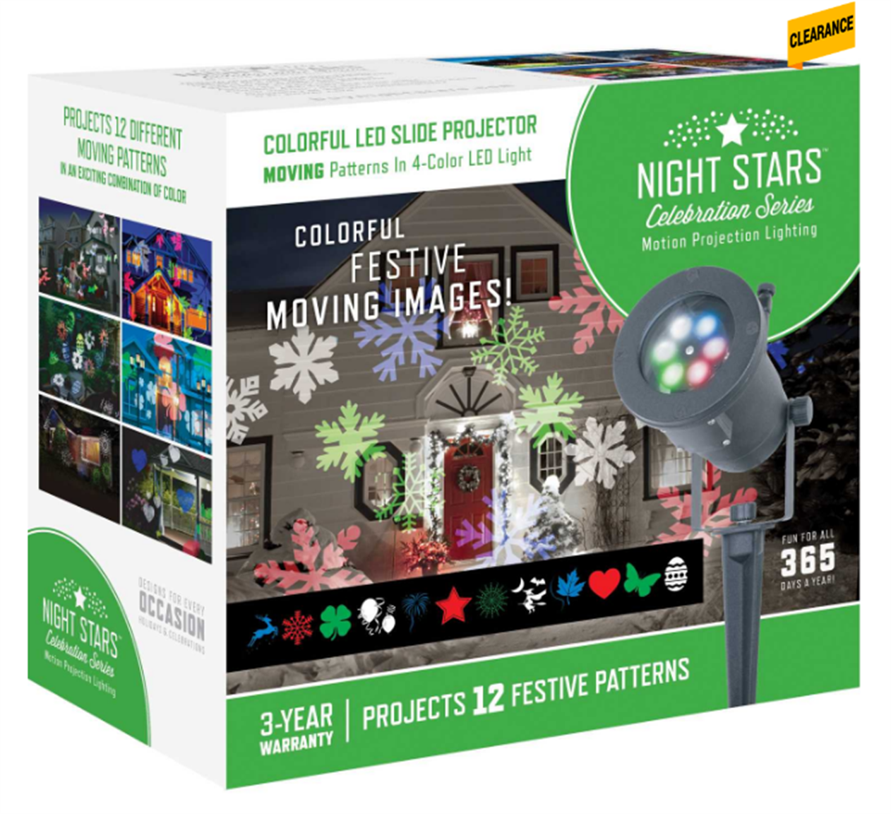 ACE – Night Stars Lightshow LED Motion Projector Only $15.99, Reg $49.99 + Free Store Pickup!