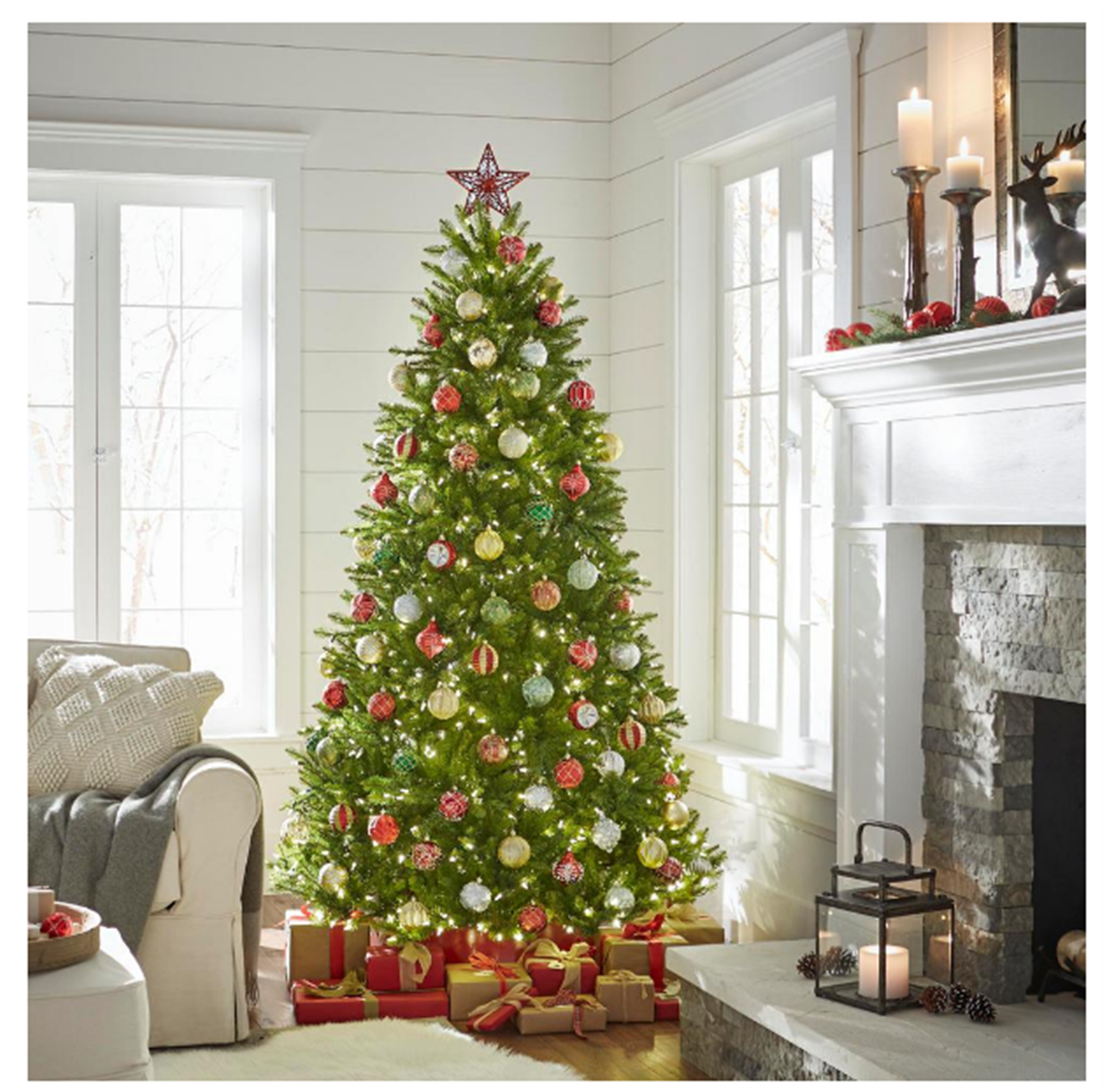 Home Depot – Up To 75% Off Christmas Items + FS (7.5 ft. Dunhill Fir Artificial Christmas Tree w/Lights) Only $184.00, Reg $369.00!