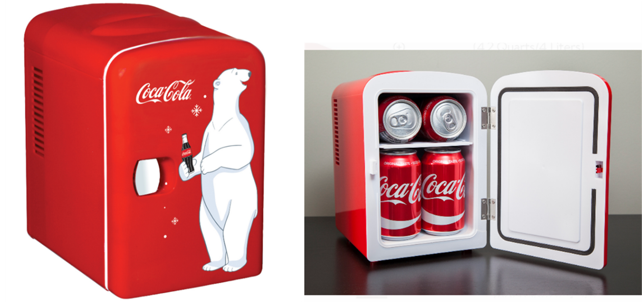 Walmart.com – 6 Can Personal Coke Mini Fridge Only $29, Reg $64 + Free Store Pickup!