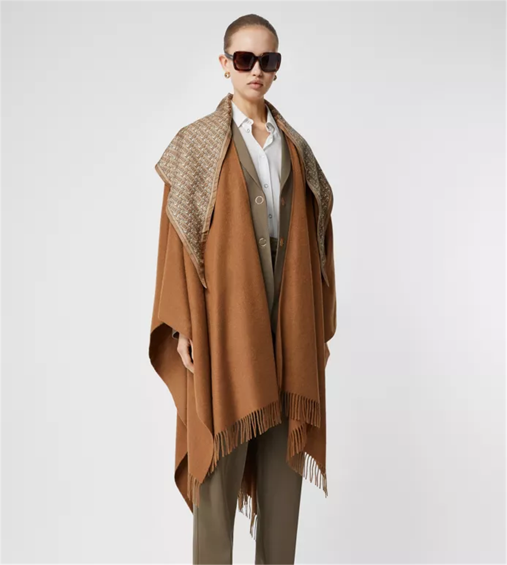 Burberry – Up to 60% Off Sale + Free Shipping! Detachable Monogram Print Scarf Cashmere Cape Only $790.00, Reg. $1320.00!