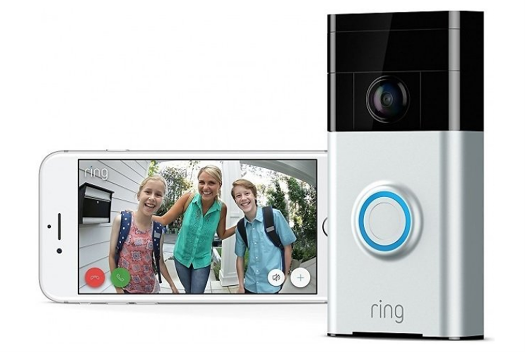 Ring Wi-Fi Enabled Video Doorbell Works with Alexa Only $64.99, Reg $199.00 + Free Shipping!