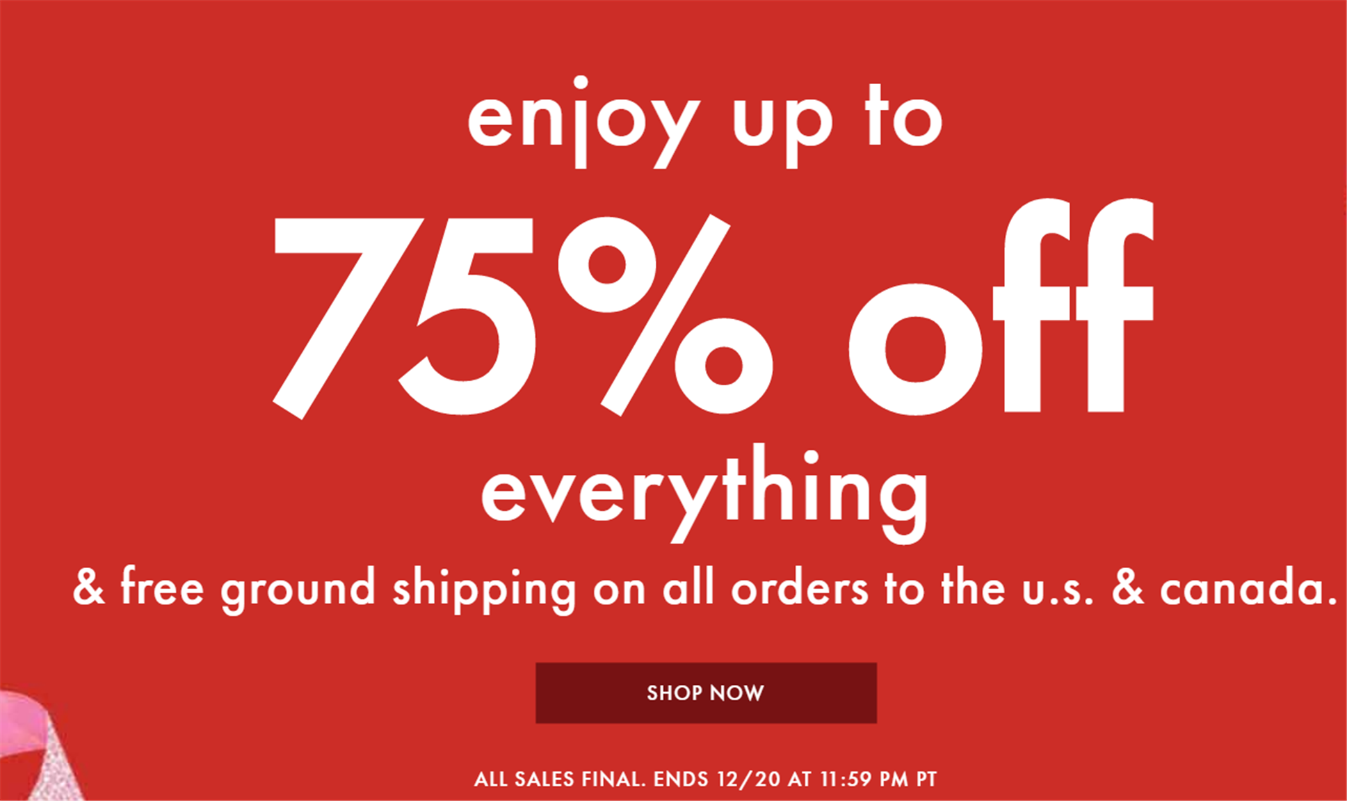 Kate Spade – TODAY ONLY! 75% Off EVERYTHING! Storewide! Plus Free Shipping!
