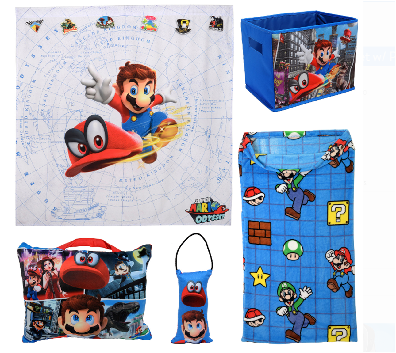 Walmart – Super Mario 5Pc Kids Bedroom Set Only $15.00, Reg $49.98 + Free Store Pickup!