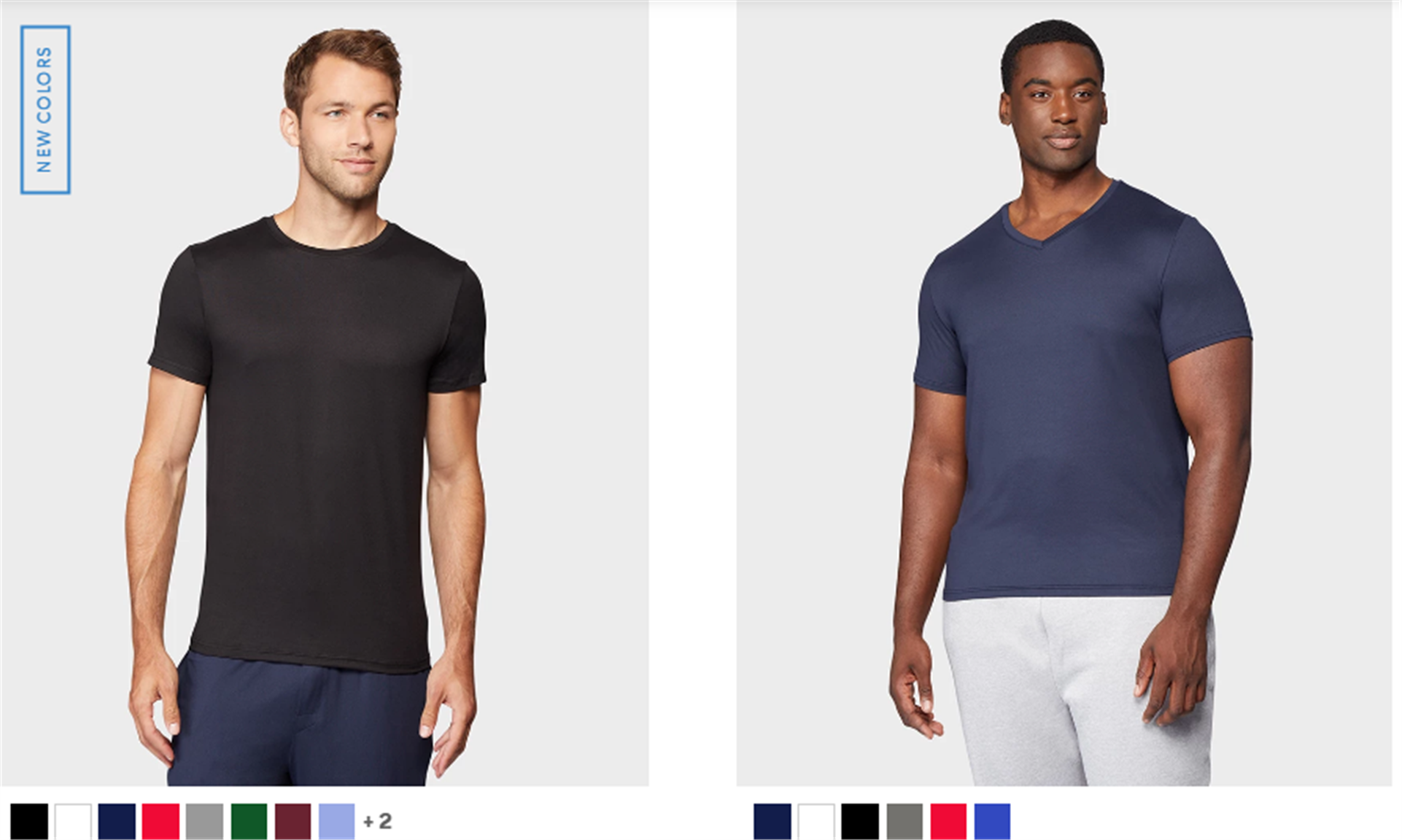Men's Cool Crew And V-Neck T-Shirts Are 7 for $35 (Comes in a Variety of Colors) + Free Shipping!