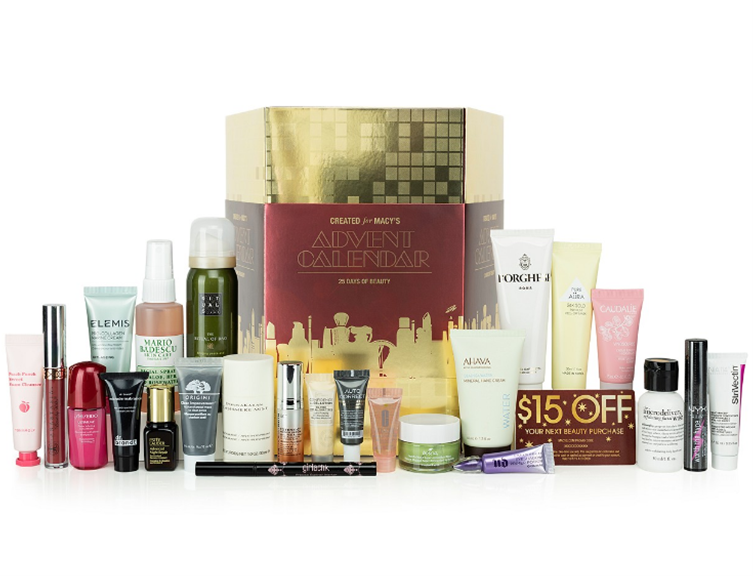 Macy's Beauty Advent Calendar Including 24 Beauty Products + A Surprise Gift and a $15 Gift Card Only $49.99, Reg $297.67