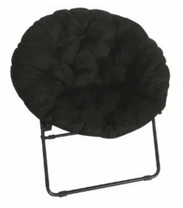 True Value – Black Padded Round Dish Chair Only $9.99 Reg $43.99 + Free Ship to Store!