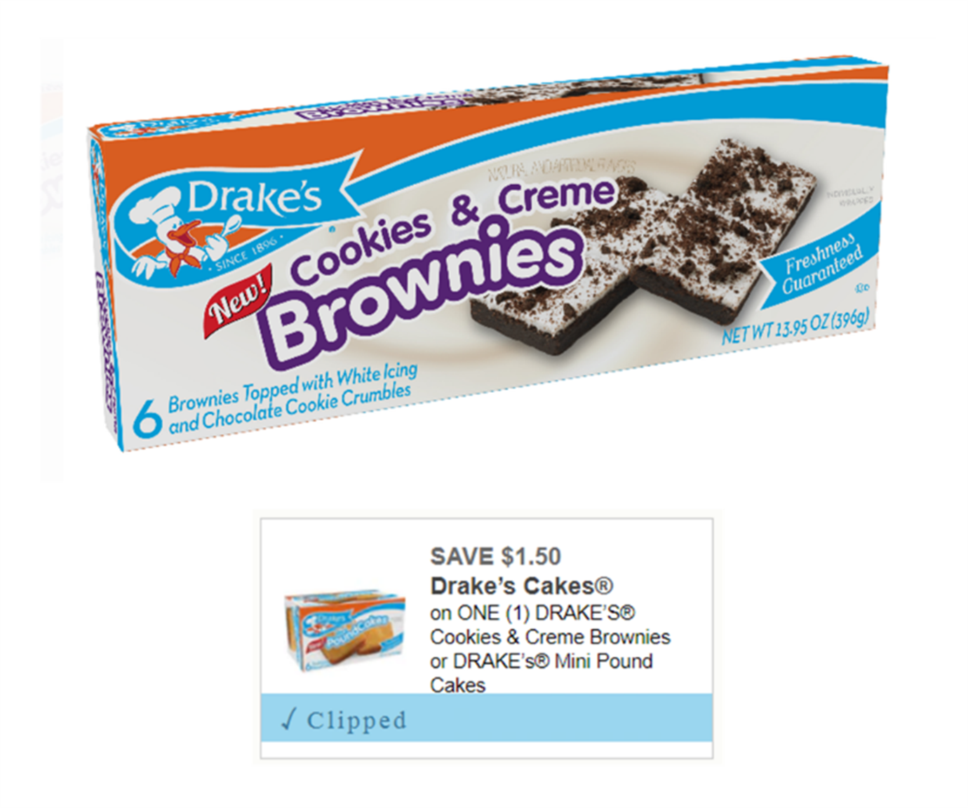 High Value Printable Coupon – Save $1.50 on ONE (1) Drake's Cake Product! Only 98¢ At Walmart!