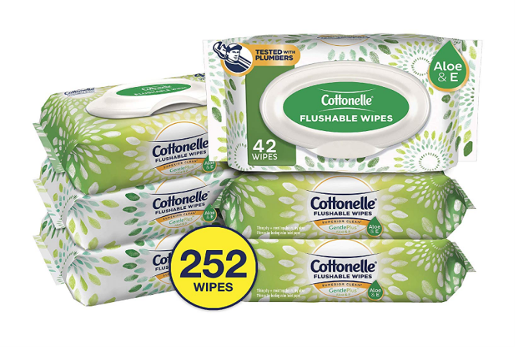 Amazon – 6 Pack 42-Count Cottonelle GentlePlus Flushable Wipes w/ Aloe & Vitamin E (252-Total Wipes) Only $6.85 Shipped!
