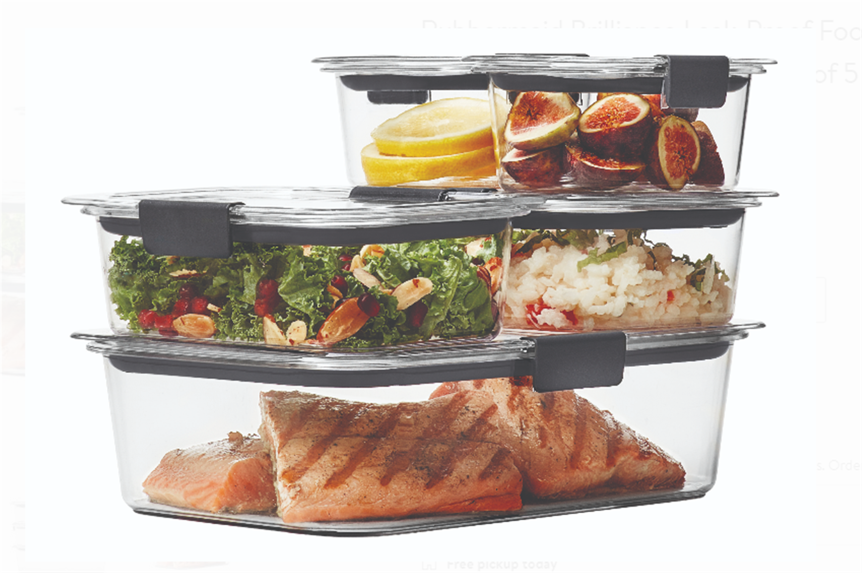 Walmart.com – 10 Piece Rubbermaid Brilliance Food Storage Container Set Only $13.76, Reg $22.98 + Free Store Pickup!