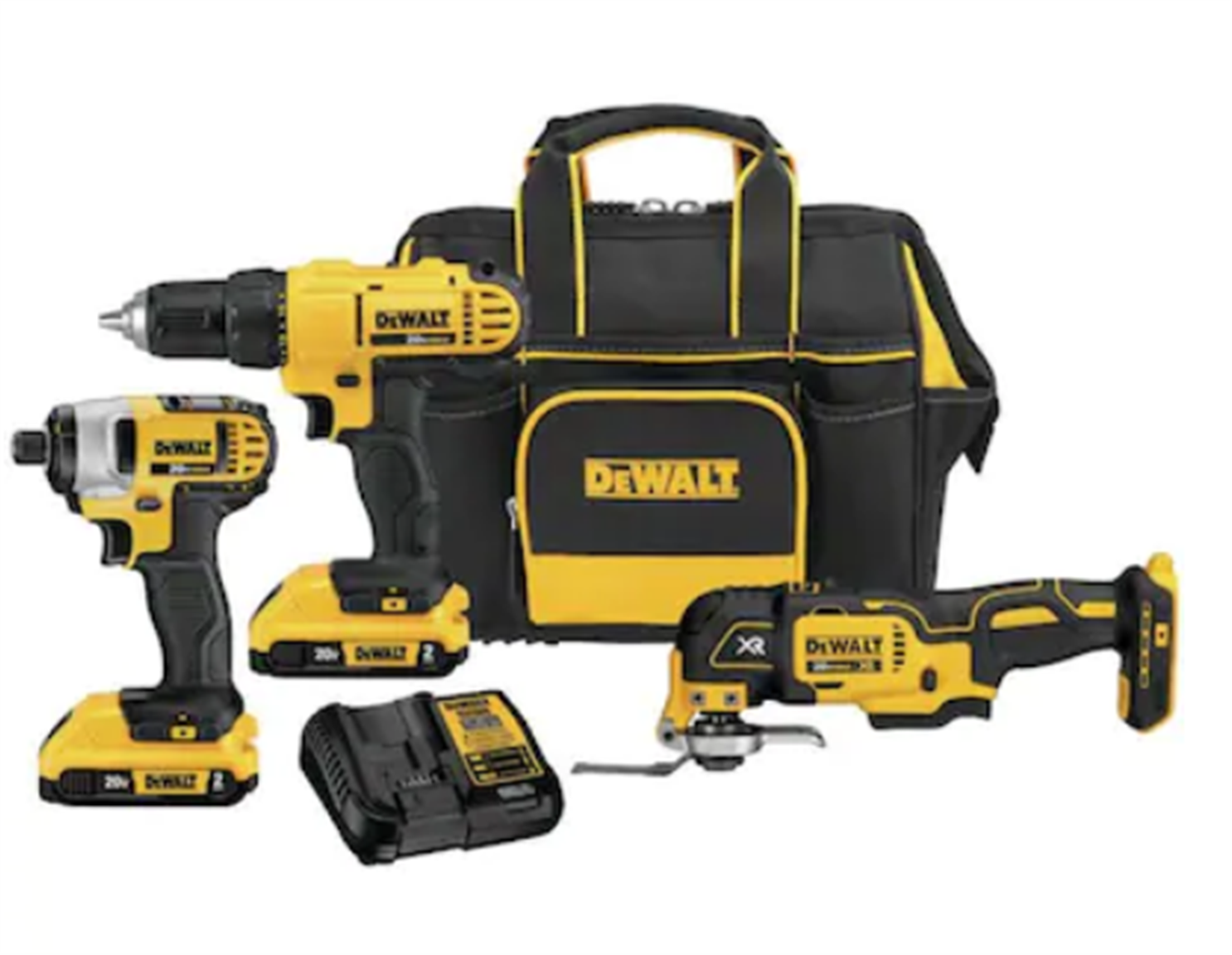 DEWALT 3-Tool 20-Volt Max Power Tool Combo Kit with Soft Case (Charger and 2-Batteries Included) Only $149, Reg $299 + Free Shipping!