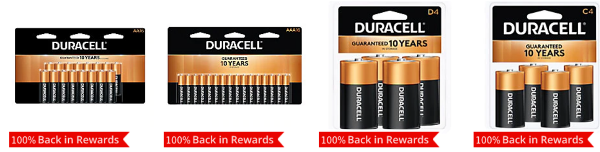 Office Depot and Office Max – 4 FREE Packs Of Duracell Batteries!