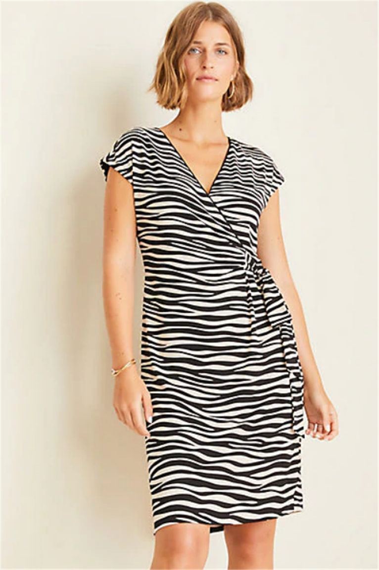 Ann Taylor – Take an Additional 60% off Already Reduced Sales Items! Zebra Print Wrap Dress Only $7.95!