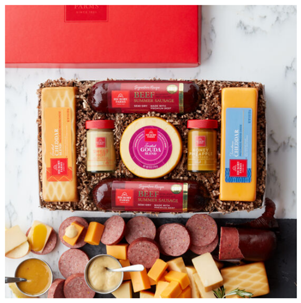 Hickory Farms- Up to 75% Off Final Clearance Food Gifts + Free Shipping To The Military! Summer Sausage & Cheese Gift Box Only $13.50, Reg $45.00!