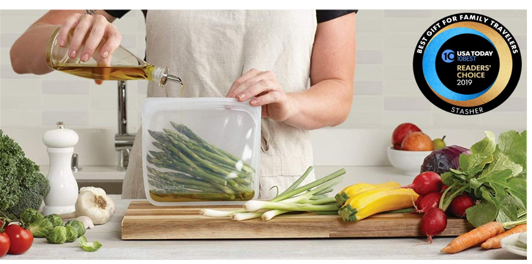 Amazon – 30% off Stasher Silicon Reusable Food Bags!