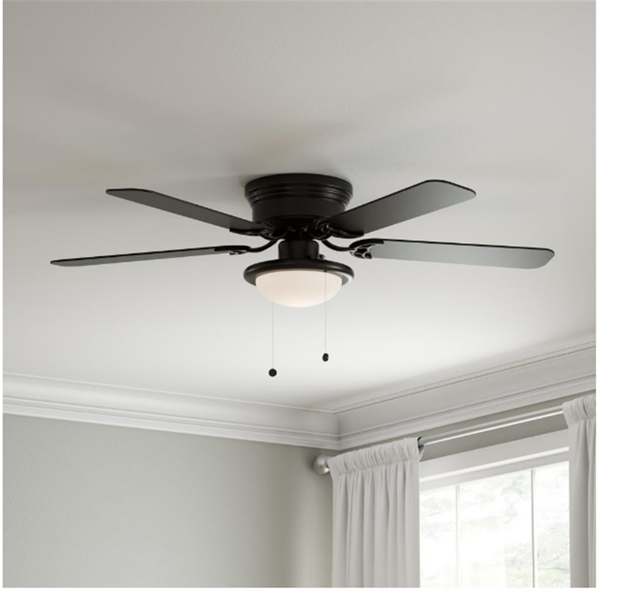 HomeDepot.com – Up To 40% Off Select Ceiling Fans + FS (Today Only) Hugger 52 in. LED Indoor Black Ceiling Fan with Light Kit Only $39.97, Reg $54.97!