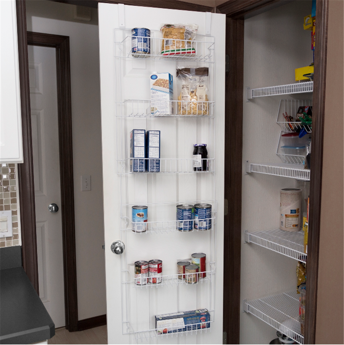 Walmart.com OR Amazon – Lavish Home Over the Door Pantry/Bathroom Organizer w/ 6 Shelves Only $14, Reg $25
