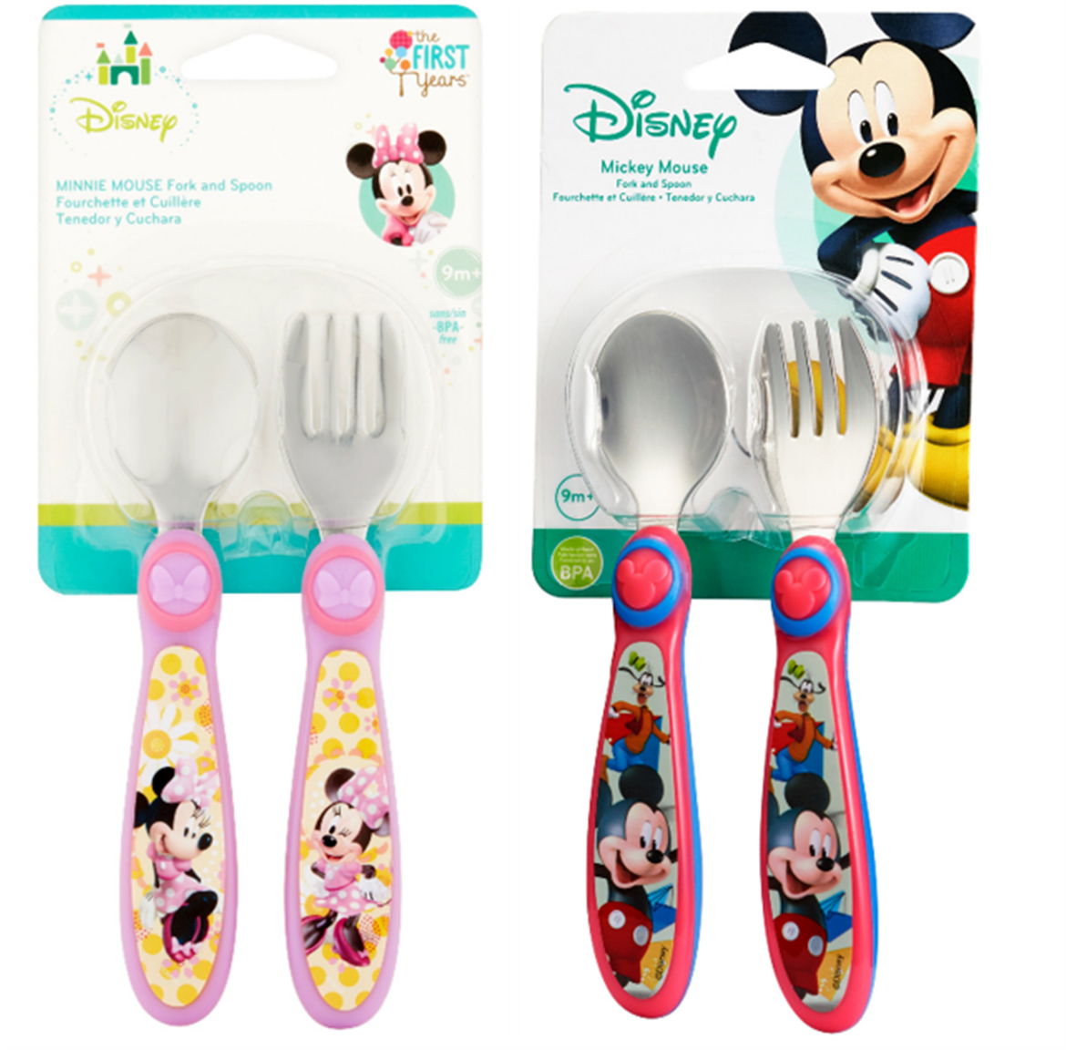 Walmart – The First Years Disney Baby Mickey Mouse Stainless Steel Flatware Only $2.50, Reg 8.99 + Free Store Pickup!