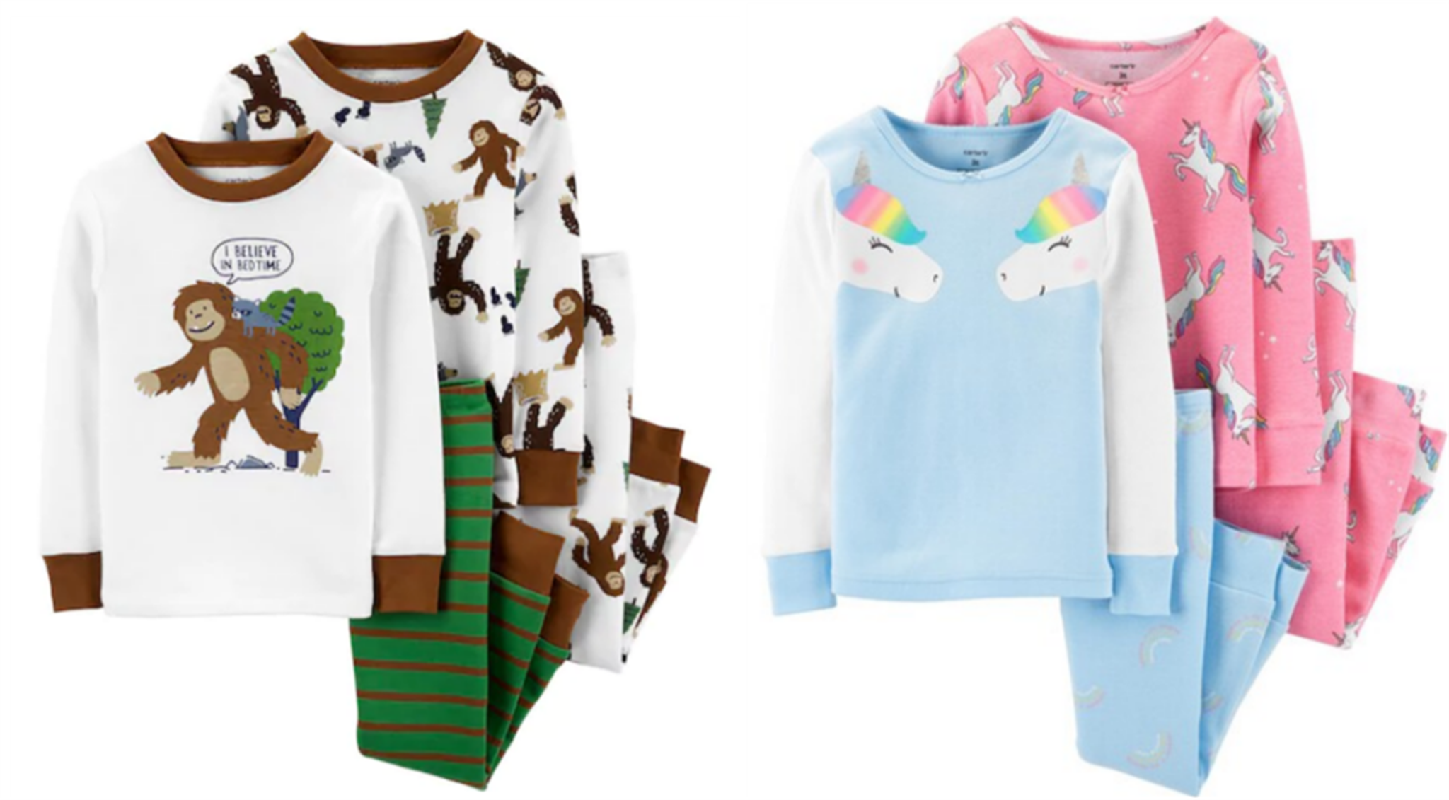 Kohl's Cardholders – Carter's 4 Piece Pajama Sets Only $8.33, Reg $36.00 + Free Shipping!