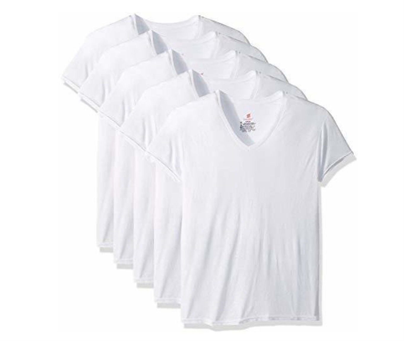 Amazon – Hanes Men's 5-Pack ComfortBlend V-Neck T-Shirt with FreshIQ Only $7.50! That's Just $1.50 each!